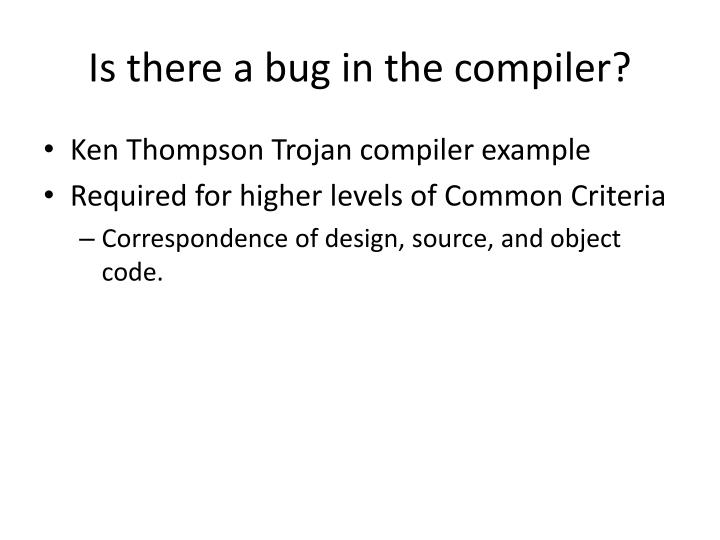 Is there a bug in the compiler?