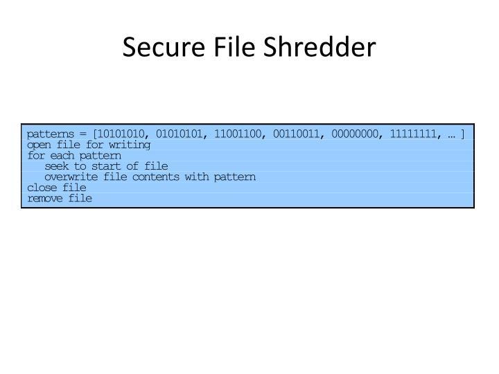 Secure File Shredder
