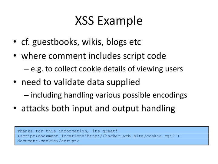 XSS Example