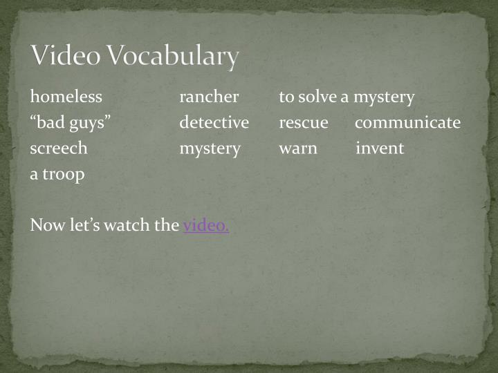 Video Vocabulary