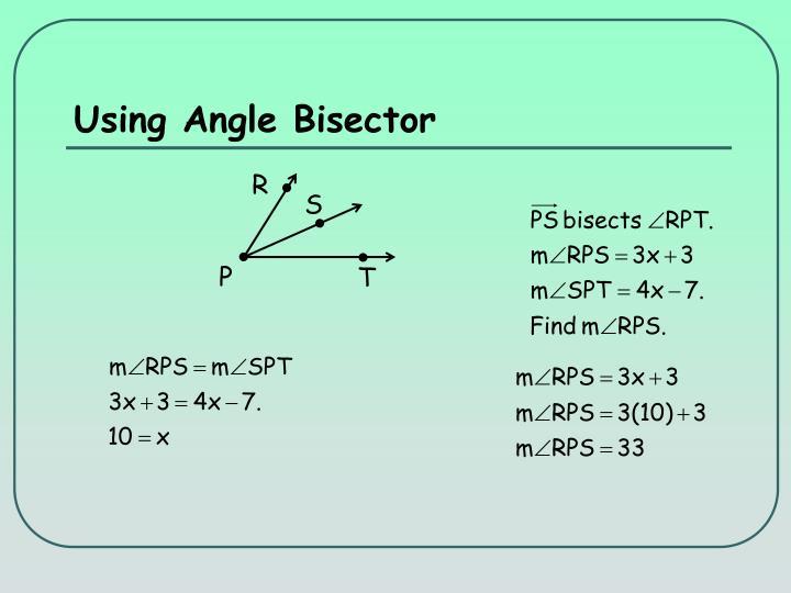 Using Angle Bisector