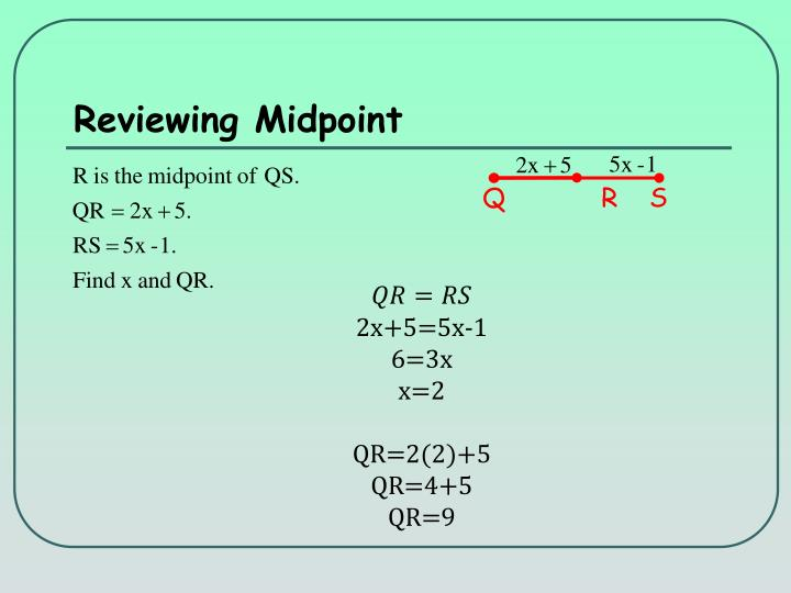 Reviewing Midpoint