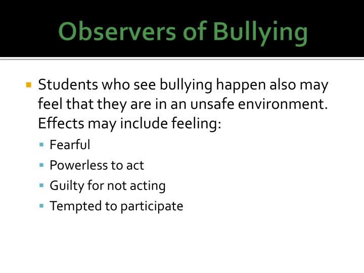 Observers of Bullying