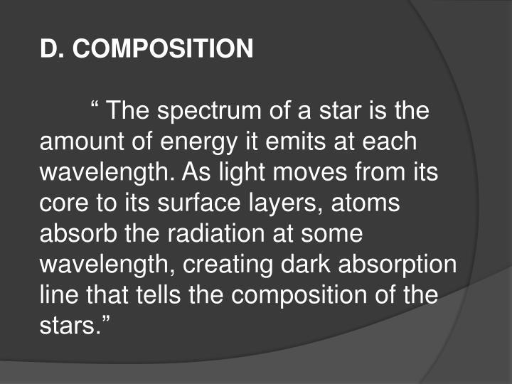 D. COMPOSITION