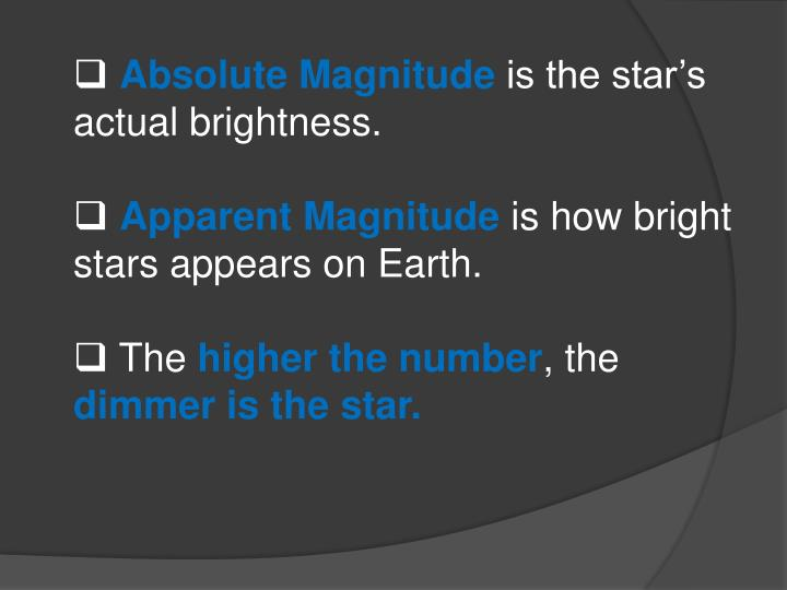 Absolute Magnitude