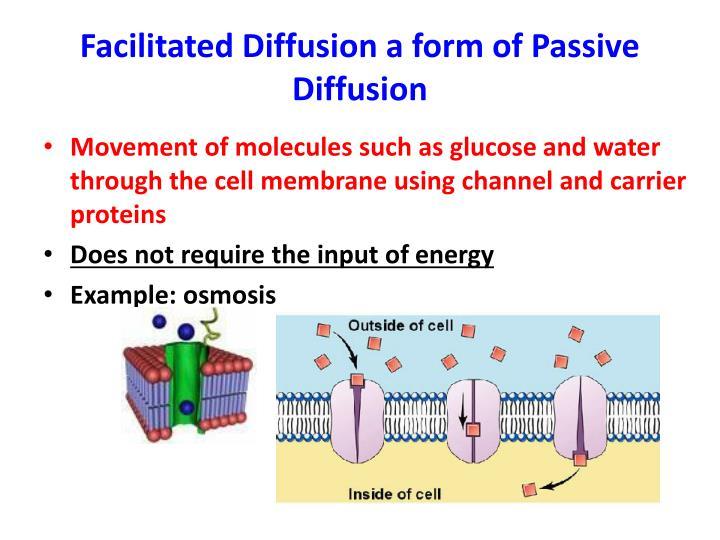 Facilitated Diffusion a form of Passive Diffusion