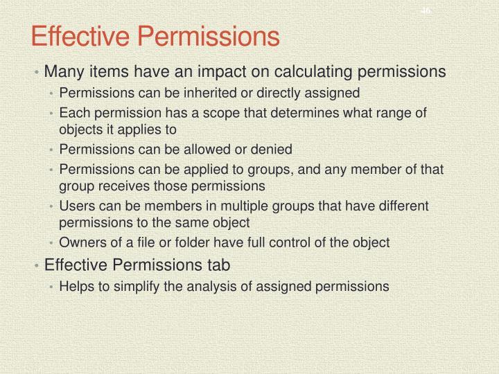 Effective Permissions