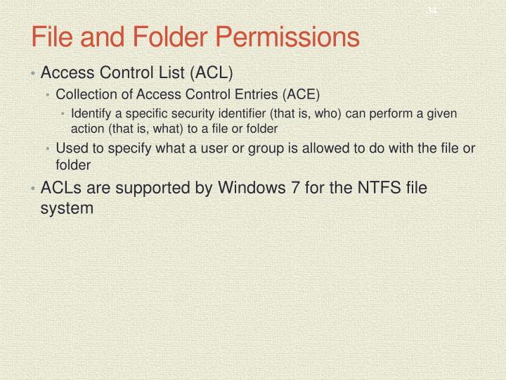File and Folder Permissions
