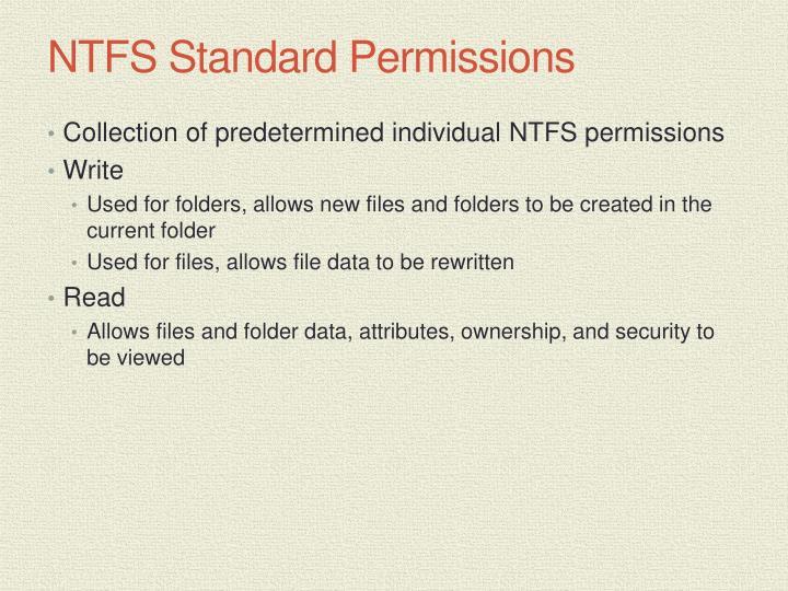 NTFS Standard Permissions