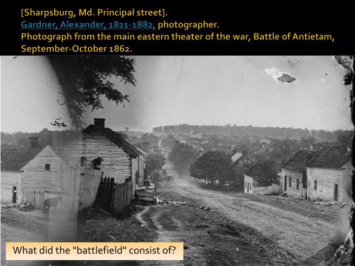 [Sharpsburg, Md. Principal street].