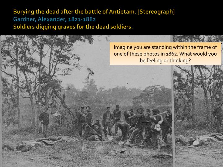 Burying the dead after the battle of Antietam. [Stereograph]