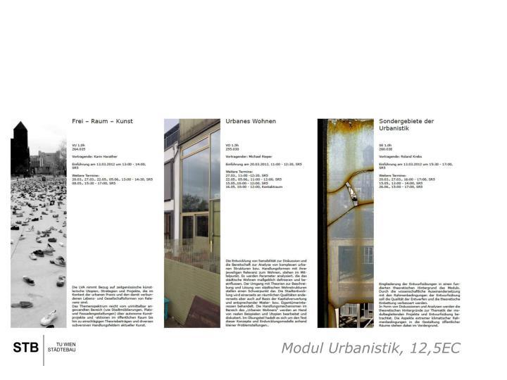Modul Urbanistik, 12,5EC