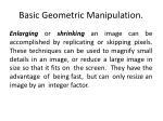 basic geometric manipulation