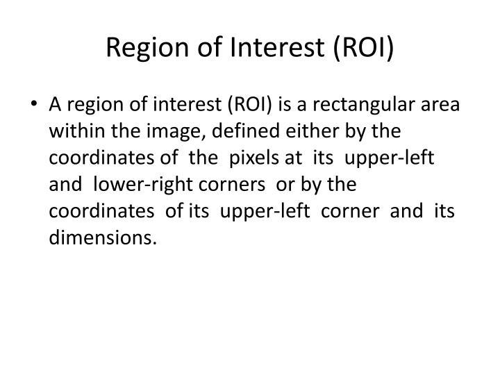 Region of Interest (ROI)