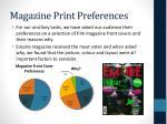 magazine print preferences