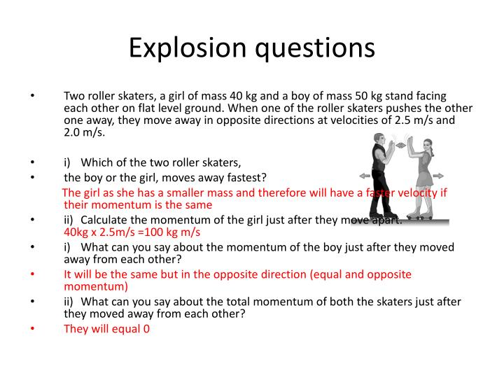 Explosion questions