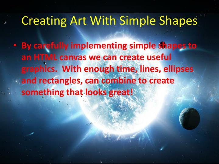 Creating Art With Simple Shapes