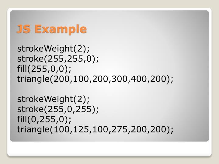 strokeWeight(2);