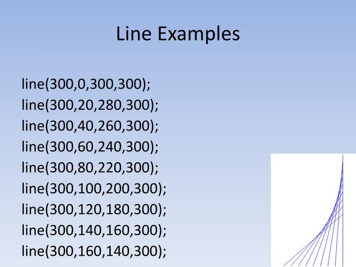Line Examples