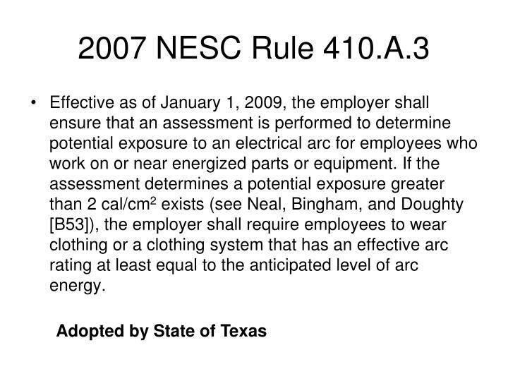 2007 NESC Rule 410.A.3