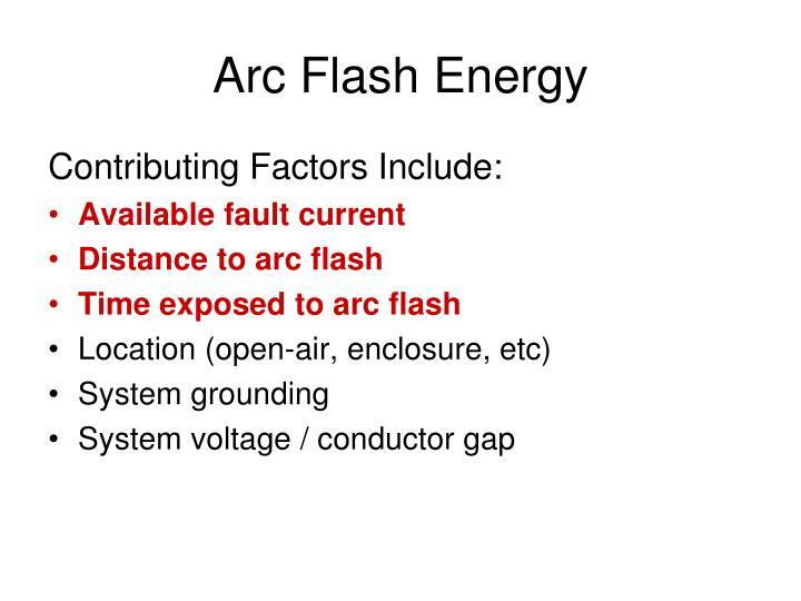 Arc Flash Energy