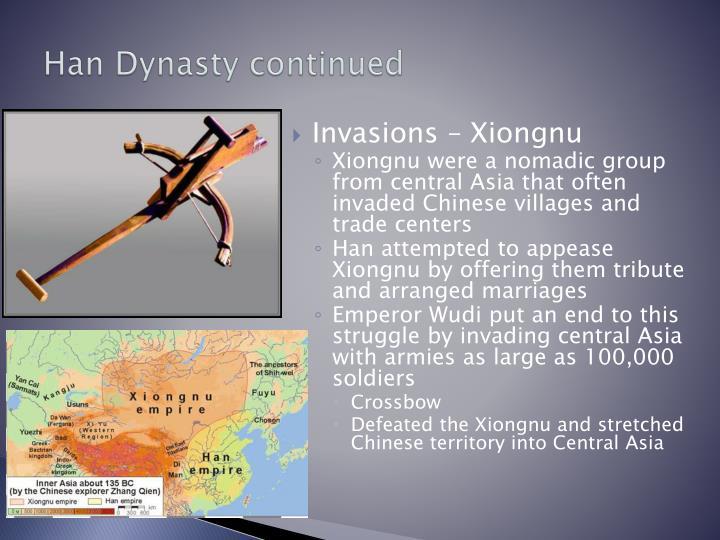 Han Dynasty continued