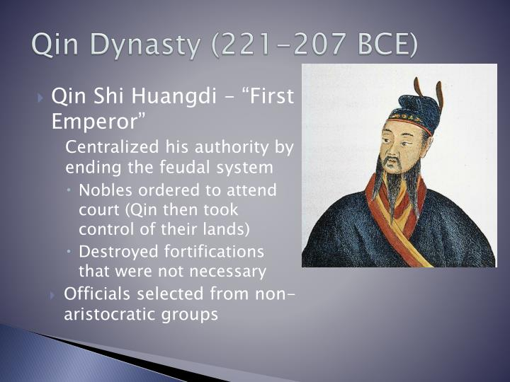 Qin Dynasty (221-207 BCE)