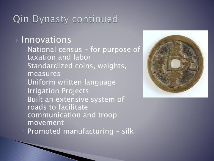 Qin Dynasty continued