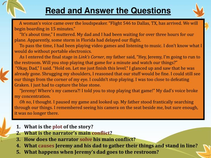 Read and Answer the Questions