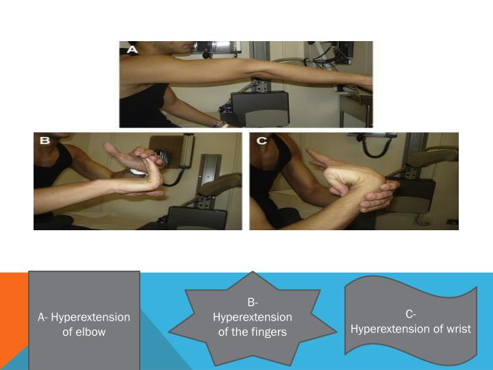 A- Hyperextension of elbow