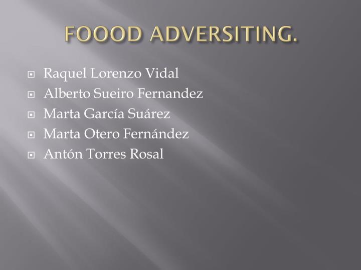 FOOOD ADVERSITING.