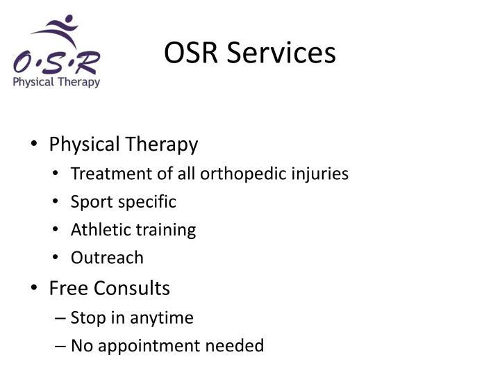 OSR Services