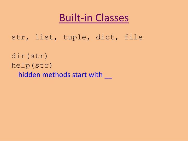 Built-in Classes