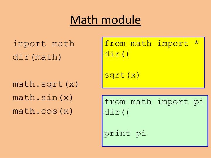 Math module