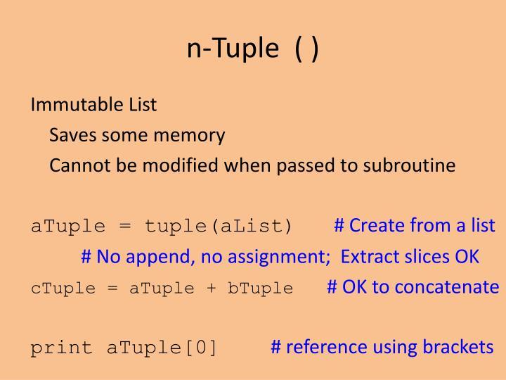 n-Tuple  ( )
