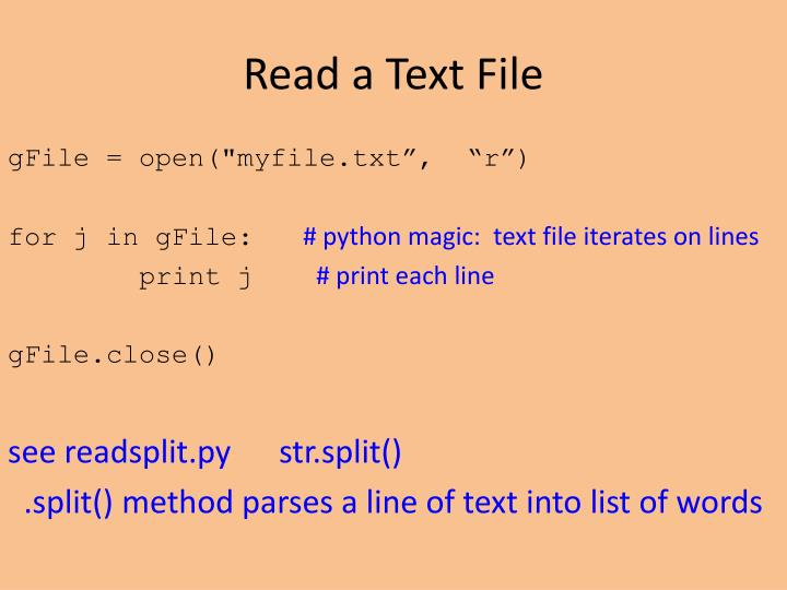Read a Text File