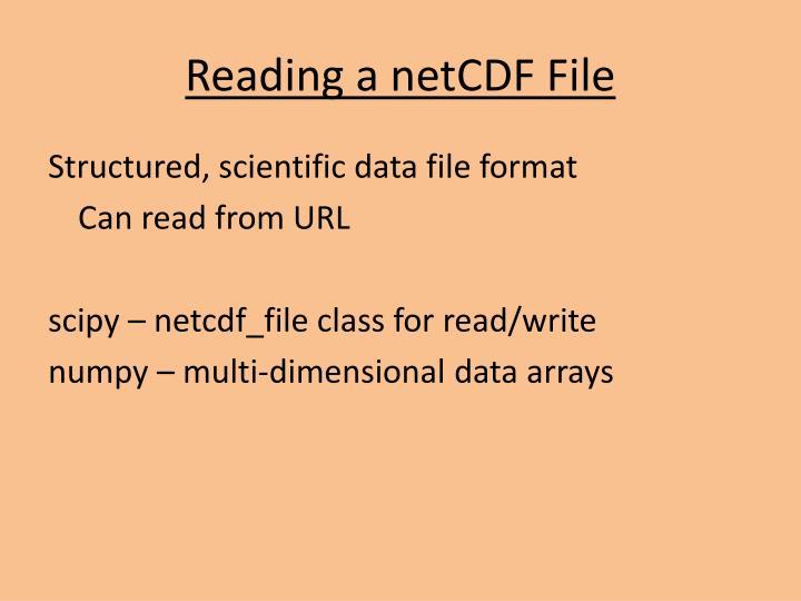 Reading a netCDF File