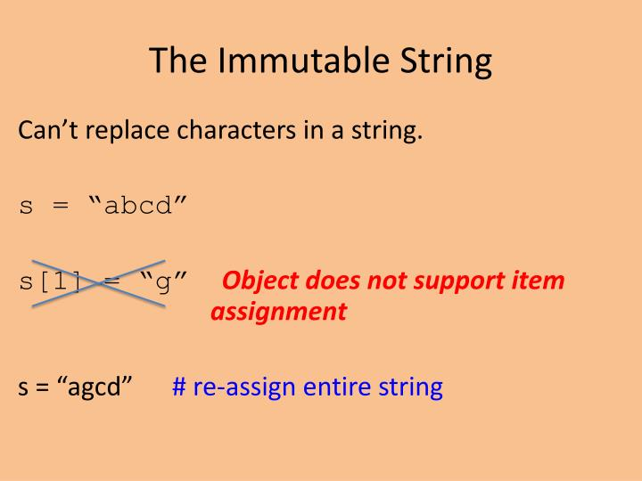 The Immutable String