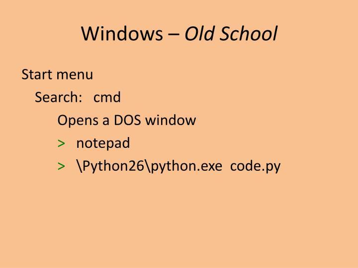 Windows –