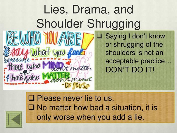 Lies, Drama, and