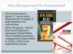 atlas shrugged and the fountainhead