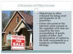 criticisms of objectivism
