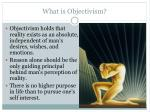 what is objectivism