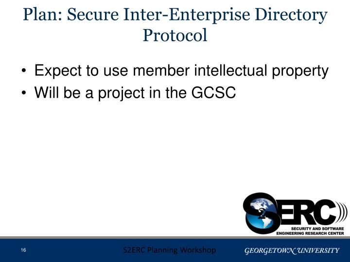 Plan: Secure Inter-Enterprise