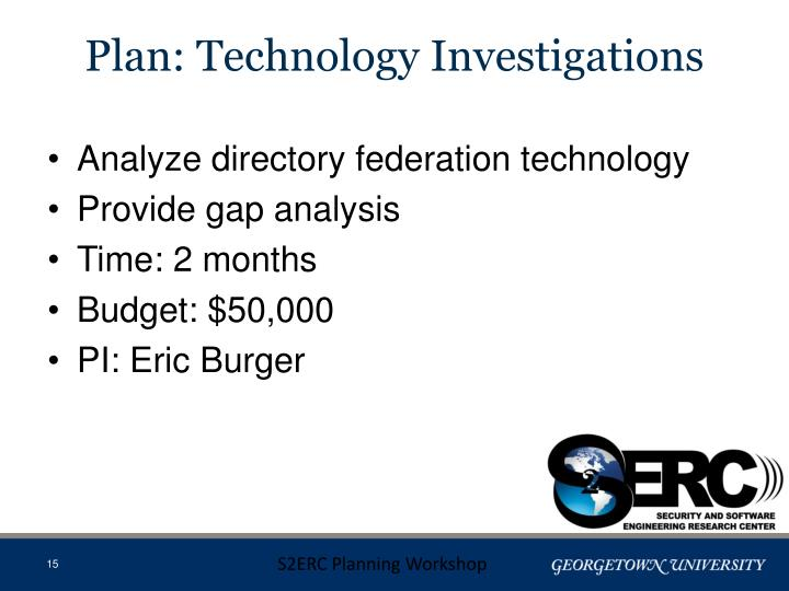 Plan: Technology