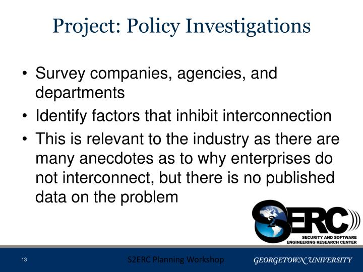 Project: Policy Investigations