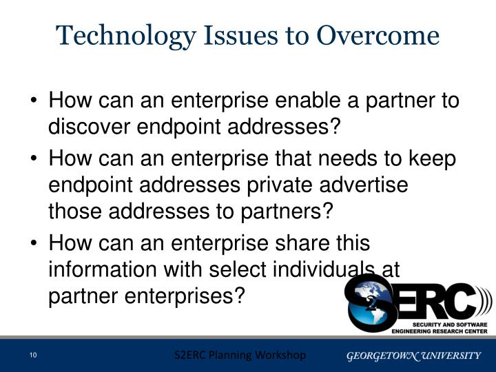 Technology Issues to Overcome