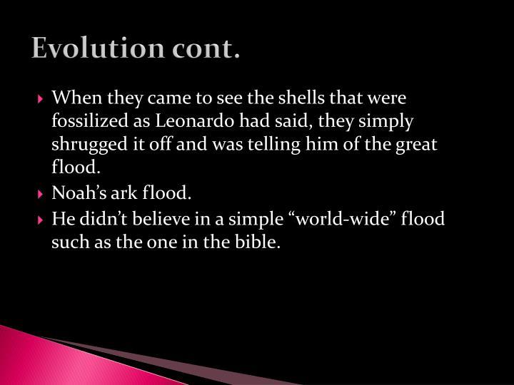 Evolution cont.