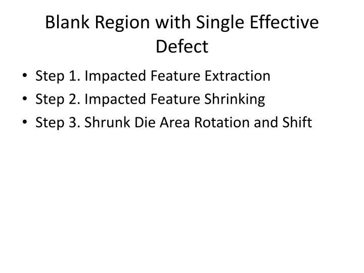 Blank Region with Single