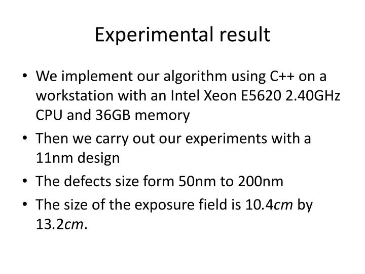 Experimental result